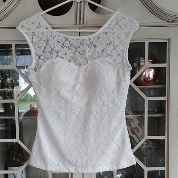 XOXO Tops - Lace cap-sleeved top